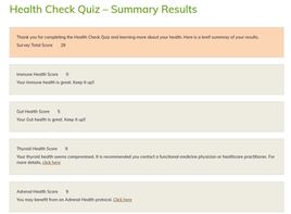 Not Sure Where To Start? Take Our Health Check Quiz