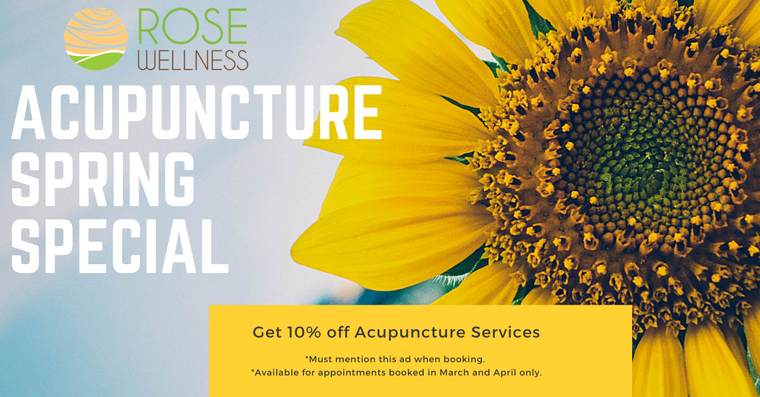 Spring Special-10% Off Acupuncture Services